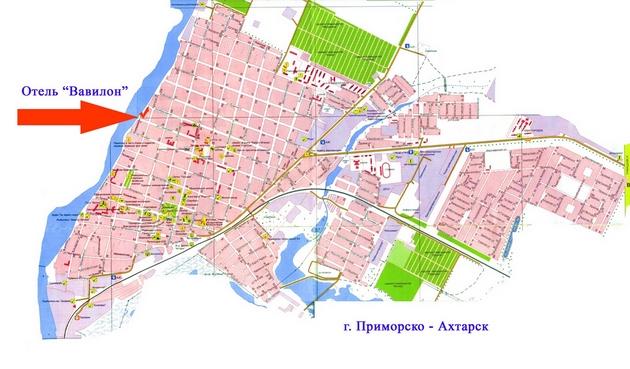 ОТЕЛЬ ВАВИЛОН карта города